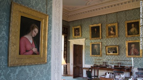 The painting of the Virgin Mary hanging in the dining room at Haddo House in Aberdeenshire.