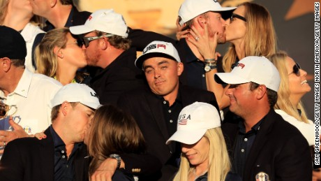 Rickie Fowler was without a partner at the Ryder Cup.