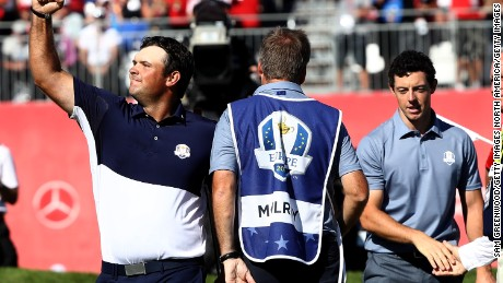 USA's Reed beat McIlroy in a sensational singles match on Sunday.