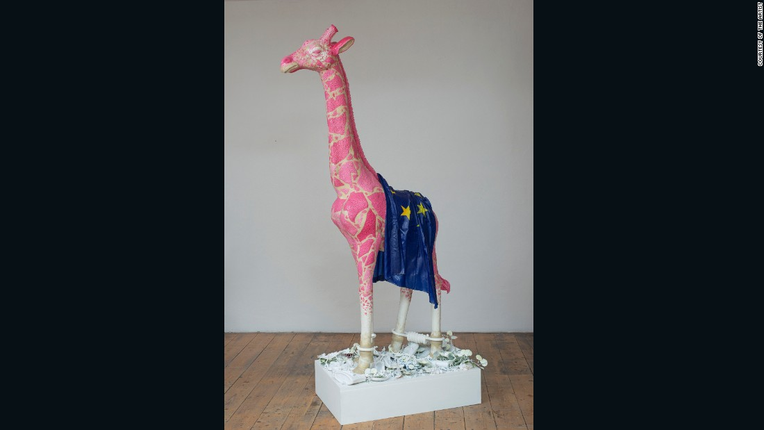 Inspired by an African tale, Savini's giraffe satirizes the gulf between EU powerbrokers in Brussels and the rest of the population.