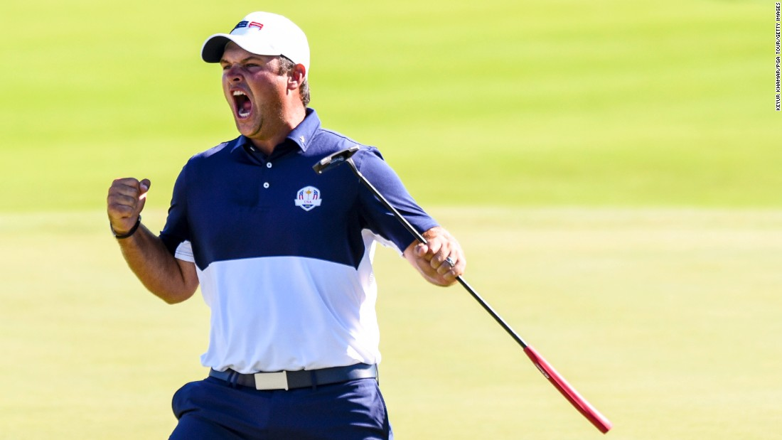 "U.S. golfer Patrick Reed celebrates his victory over Rory McIlroy on the final day of the Ryder Cup on Sunday, October 2. The American team won its first Ryder Cup since 2008, <a href=""http://www.cnn.com/2016/10/02/golf/golf-ryder-cup-usa-europe/index.html"" target=""_blank"">defeating Europe 17-11</a> in Chaska, Minnesota."
