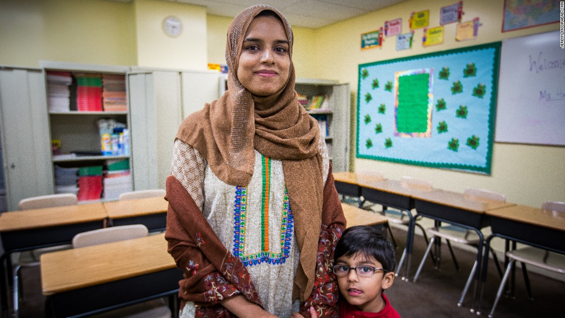 "Javeria Ahmed, teacher, mother to two children, lives in Sterling, Virginia. Born in Pakistan, undecided voter. <br /><br />""At the end of the day, we're all the same. There is no difference. I think that is one thing that is concerning and alarming, because it is something new and you hear that and it's just like, oh, no, what is the future going to be like, especially for your kids."""