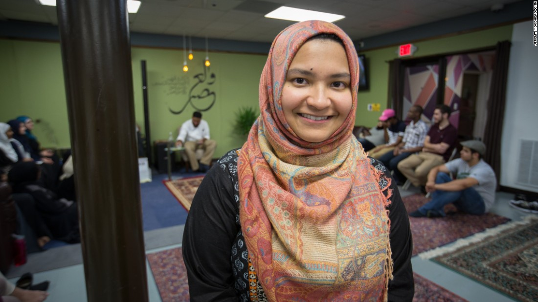 "Ipsita Salim, 24, student at Dakota State University. Born in Bangladesh and came to the U.S. when she was 3. <br /><br />""I think being a Muslim in northern Virginia is probably a little bit easier than being a Muslim maybe some place else just because this area, it is very diverse. There's a comparatively larger concentration of Muslims here than there are in I'd say in other places. You really feel that once you even go maybe twenty miles, thirty miles out of this area. I always joke with my family that, 'Hey, guys we can never move anyplace else.' It's one of those bittersweet jokes."""
