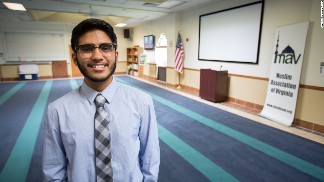 """Shadaf Ahmad, 20, student at Northern Virginia Community College, lives in Woodbridge, Virginia. A Democrat who supported Bernie Sanders and is now backing Hillary Clinton. <br /><br />""""It's very simple: because Bernie Sanders is out of the elections now and Hillary Clinton seems like one of the great options I have right now. I really agree with Hillary Clinton's views. I believe that Hillary Clinton, she has a great trust for Muslims in America, and I believe in America that us as Muslims we can help make this nation move forward."""""""