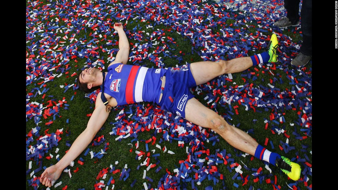 "Easton Wood celebrates the Western Bulldogs' win in the Grand Final of the Australian Football League on Saturday, October 1. <a href=""http://www.cnn.com/2016/09/27/sport/gallery/what-a-shot-sports-0927/index.html"" target=""_blank"">See 41 amazing sports photos from last week</a>"