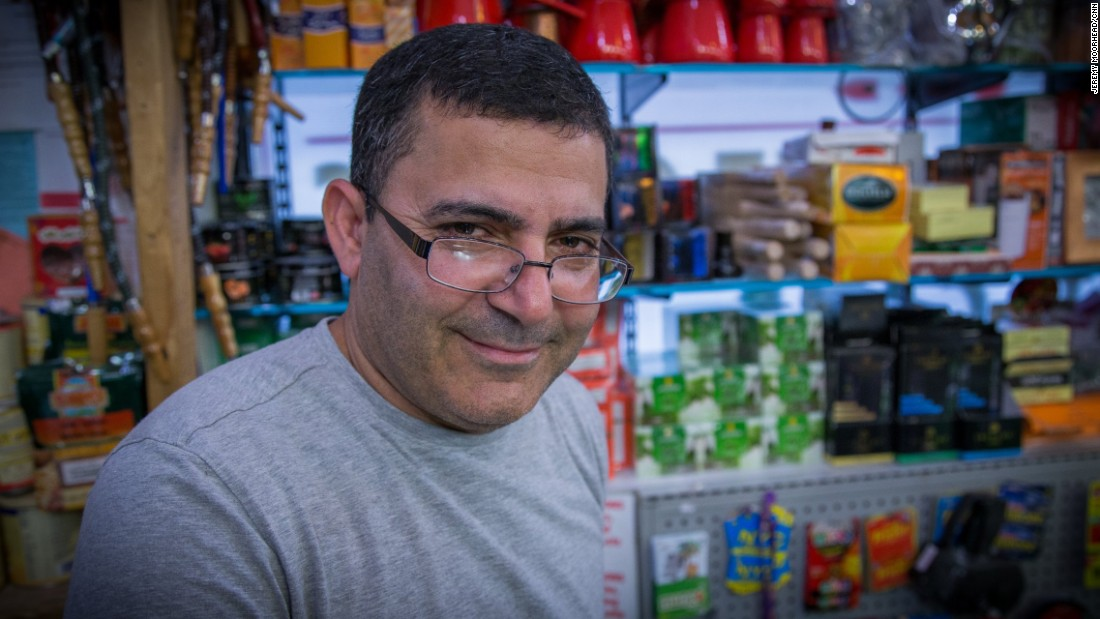"Amin Shehadeh, 47, Palestinian American, came to the U.S. in 1991, lives on Staten Island. Has five children and is expecting his first grandchild. Will vote for the first time for Hillary Clinton. <br /><br />""I don't worry about (Trump). I don't think he could do that, but he just talk, he just talk. I don't think he going to be President."""