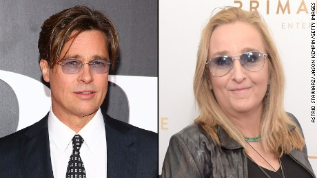 Brad Pitt and Melissa Etheridge have lost touch over the years, she said.