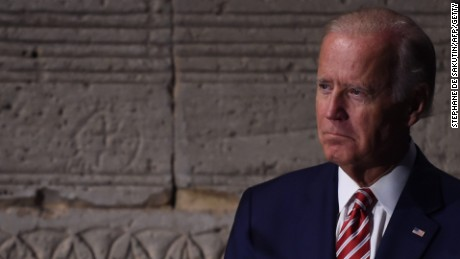 Vice President Joe Biden waits to speak during a news conference on the sidelines of the UN General Assembly in New York on September 20, 2016.