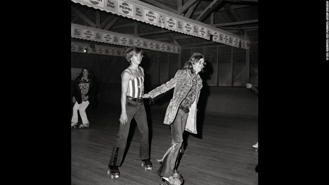 The Sweetheart rink burned down in the late 1970s and was never rebuilt. But Yates' photos endure as a snapshot of early-'70s America -- a transitional time between the cultural upheavals of the late '60s and the flashy excesses of the disco era to come.