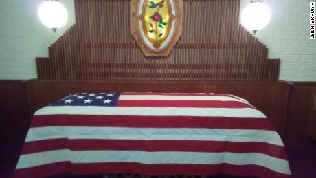 Harold Eugene Baker's casket