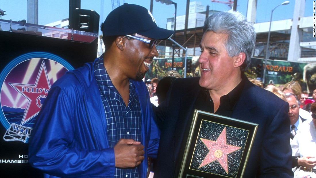 In 2000, Leno was awarded a plaque on the prestigious Hollywood Walk of Fame.