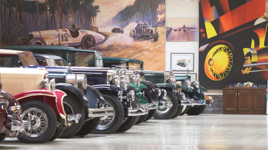He has taken time to painstakingly restore his vintage car collection, which now resides in excellent condition in the star's garage.