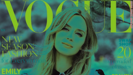 "Emily Blunt will be on the cover of British Vogue's November issue, dubbed the ""Real Issue"""