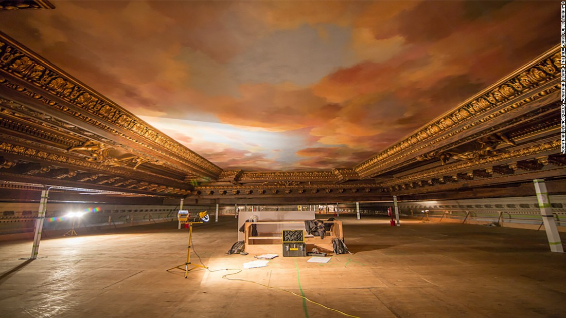 """""""The ceiling is 52 feet (15.8 meters) high. We had to build scaffolding of 42 feet high (12.8 meters) so we could access the ceiling and the inspection could take place, which was a time consuming and expensive process,"""" Kelly says."""