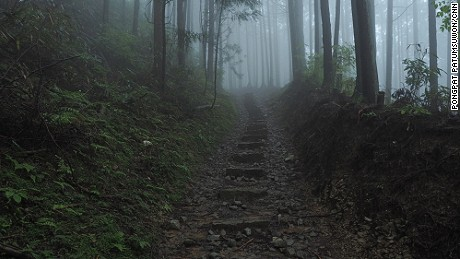 The Choishimichi Trail is about 24 kilometers long.