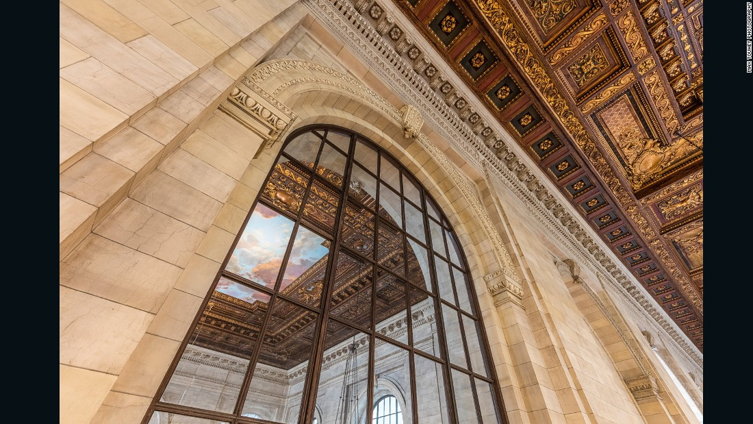 """But for me the great emblem is the windows. They are a soaring space that bring natural light to the room which is functional but symbolic. The ways in which knowledge, reading, research, and history are made available to people are echoed in the windows."""