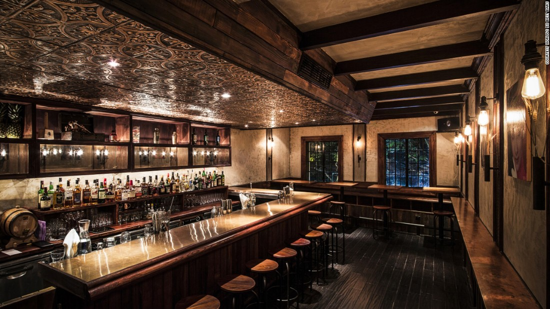 Shanghai's Speak Low, at number 15, is a Japanese-style speakeasy hidden behind a sliding bookshelf at the back of a store in the city's French Concession.