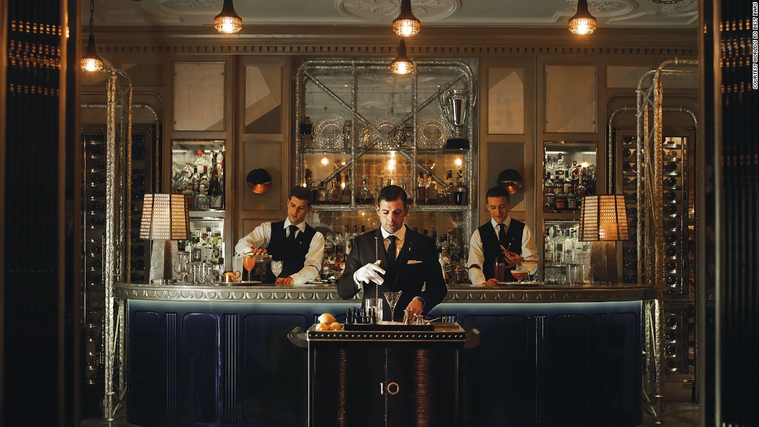 At number 4, the Connaught Bar serves visitors to the upscale hotel of the same name in London's wealthy Mayfair district.