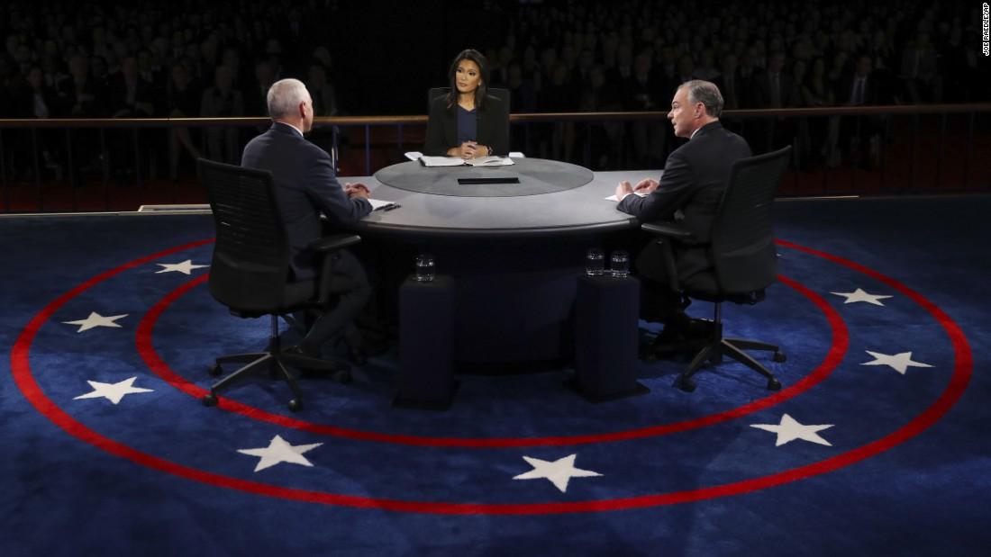 The debate was held a week after the first of three presidential debates.