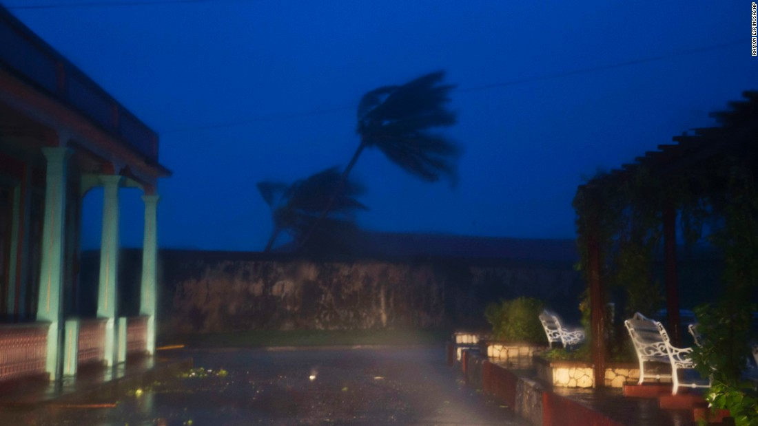 The high winds of Hurricane Matthew roar over Baracoa on Tuesday, October 4.