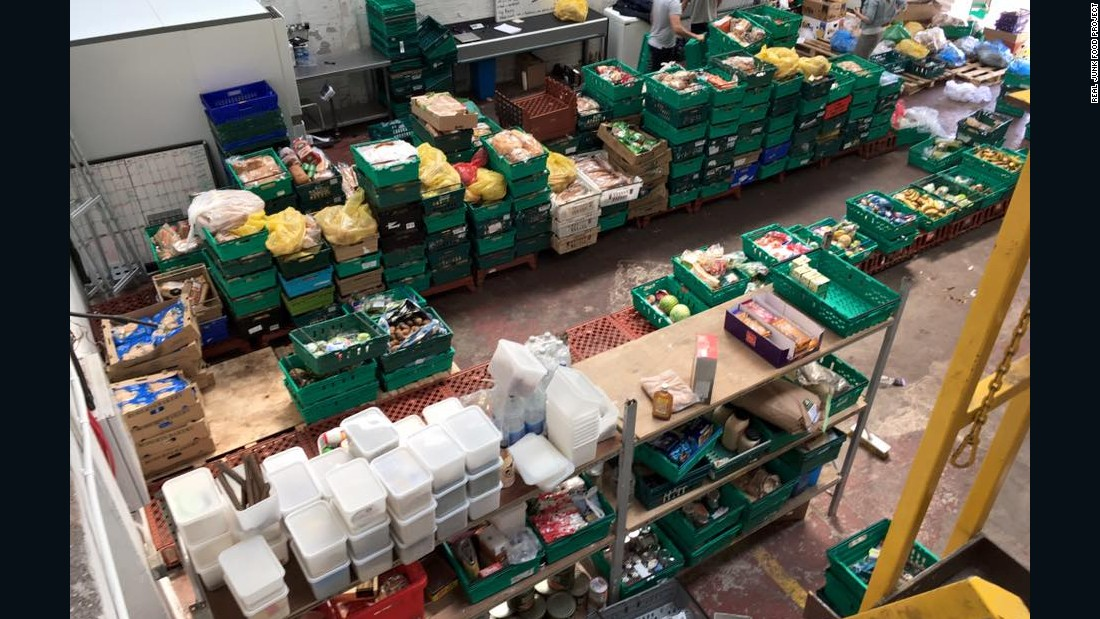 "The UK's first waste food supermarket in the northern city of Leeds, recently established on a ""pay as you feel basis"" by the Real Junk Food Project (RJFP)."