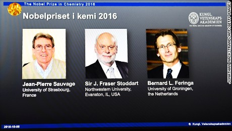 The 2016 Nobel Chemistry Prize was awarded to a trio behind some of the world's tiniest machines.