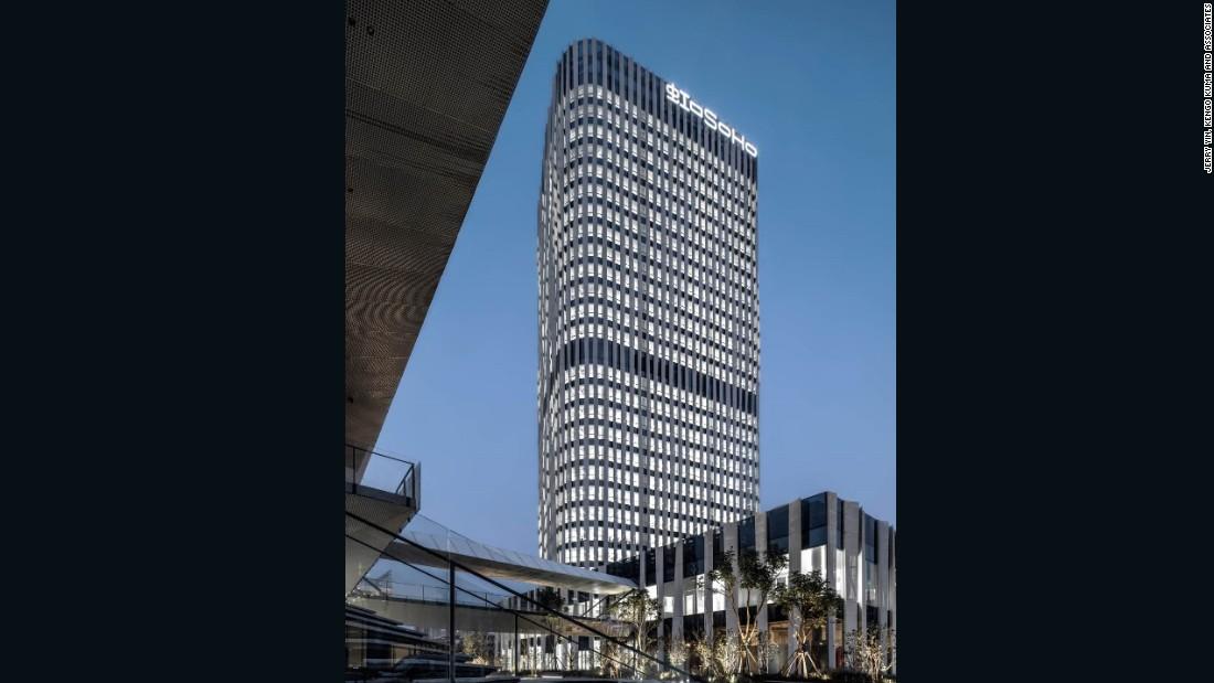 Kuma has also designed office blocks, such as the Hongkou Soho.
