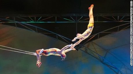 Cirque du Soleil's death-defying high-fliers