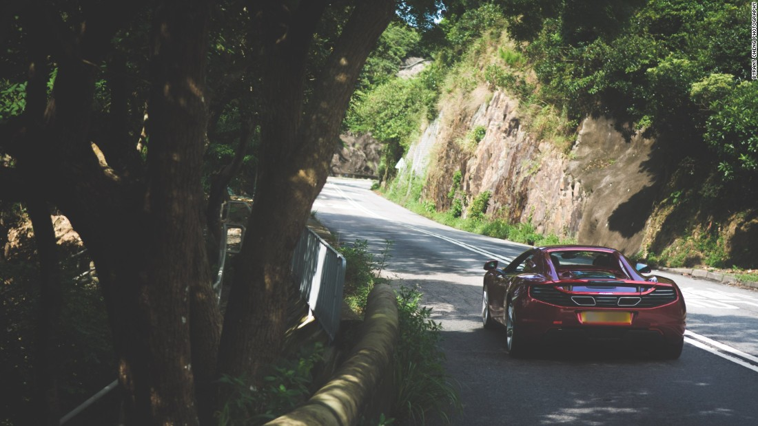 Shek O is popular with supercar owners who regularly hit the road together for traffic-free morning drives.