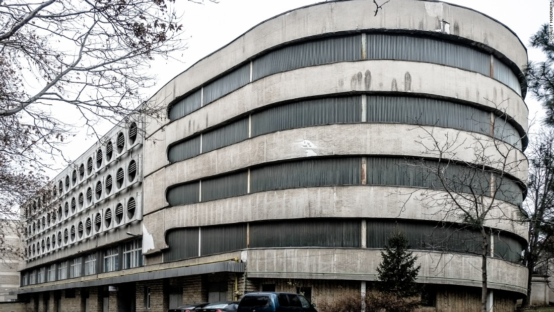 Government parking building in Chisinau, Moldova, built in 1978.