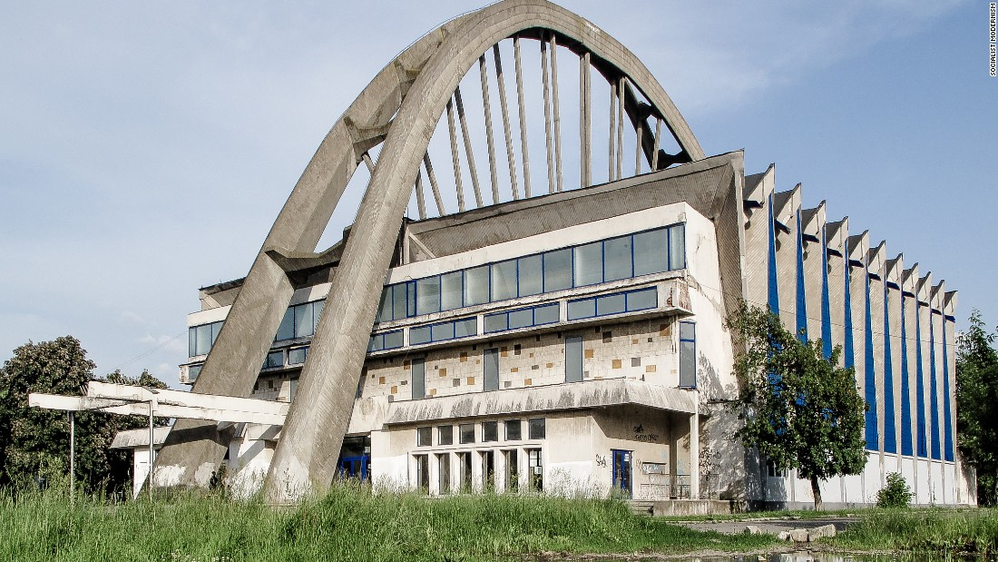 Bacau Sports Hall, Bacau, Romania, built between 1972-75.