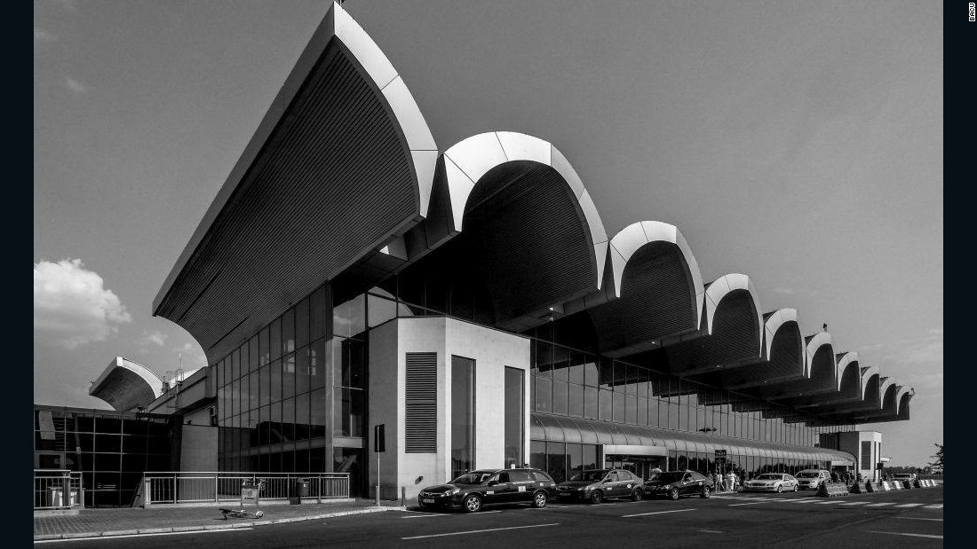 Otopeni Airport, Bucharest, Romania.
