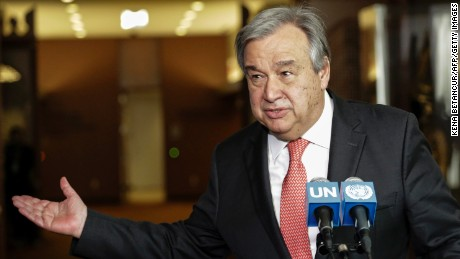 Antonio Guterres, the new United Nations secretary-general.