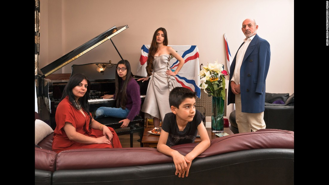 The David family in London has Iraqi and Syrian roots. They're one of the many families photographed by Chris Steele-Perkins to show London's diversity. Last year, 8.6 million people living in the UK were born abroad, with London being the most diverse area -- approximately 37% of people in the city are from other countries.