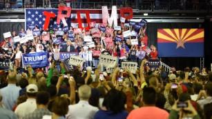 Political world watches Arizona as Trump heads West