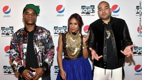 Members of the Breakfast Club, Charlamagne Tha God, Angela Yee, and DJ Envy attend Power 105.1's Powerhouse 2015 on October 22, 2015 in Brooklyn, NY.