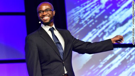 Aaron Beverly came in second at the 2016 Toastmasters championship with a speech that began with an audacious title.