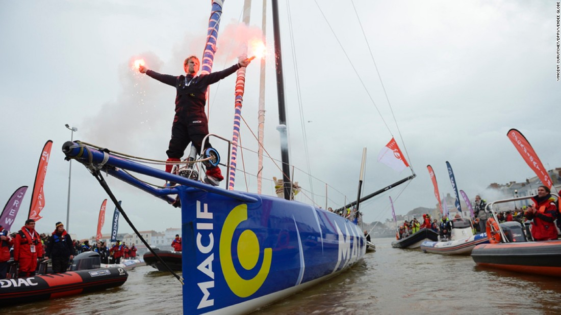 Frenchman Francois Gabart won the last Vendee Globe at just 29 years old, becoming its youngest champion. His finish time of 78 days and two hours set a new race record.