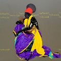 Eddy Kamuanga Ilunga, Duty of memory, 2016 Acrylic and oil on canvas ,200cm x 200cm, Imag courtesy October Gallery London
