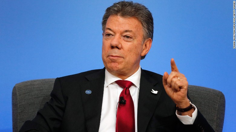 Colombian president awarded Nobel Peace Prize