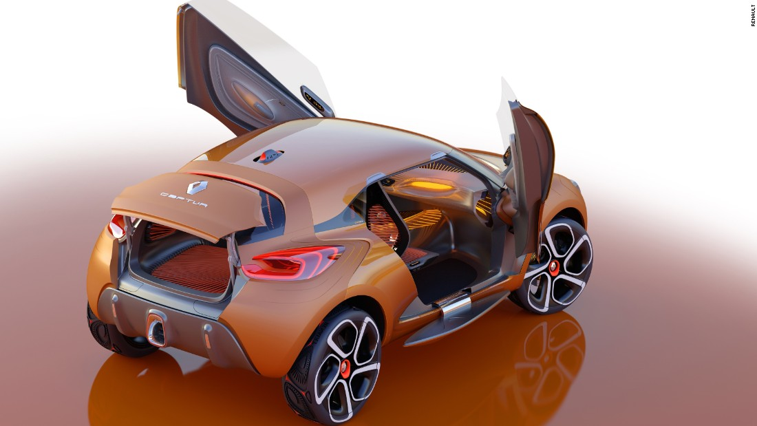 The Captur is a bright orange two-seater that was released in 2011.
