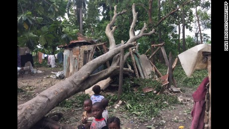 Aid agencies say 80% of people in the worst affecetd areas have lost their homes.