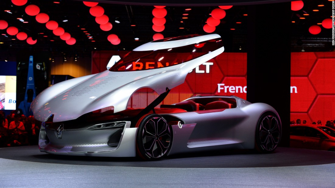 This year, car manufacturer Renault revealed a two-seater concept car -- the Trezor -- at the Paris Motor Show.