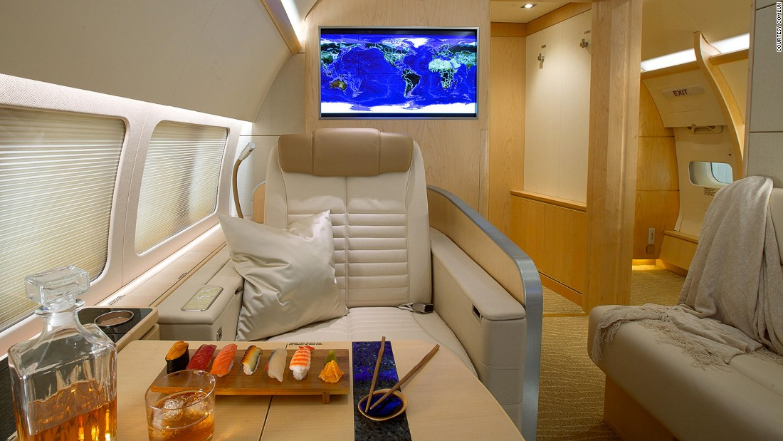 This Boeing Business Jet was customized by Comlux for the Asia market.