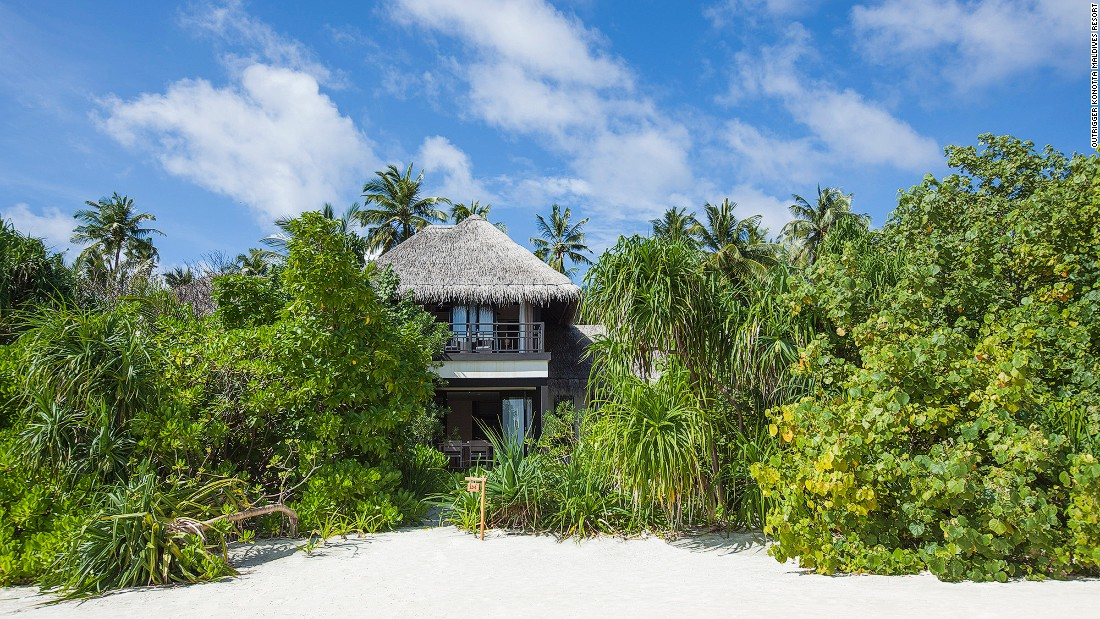 Outrigger Konotta Maldives Resort features beach pool villas, ocean pool villas and lagoon villas.