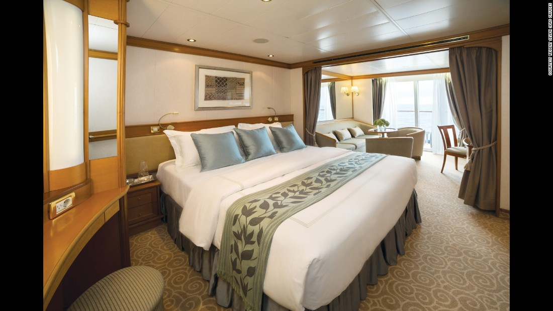 The four ships of Regent's Seven Seas won for best luxury cabins.