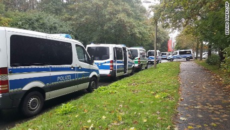 Police raided an apartment building in Chemnitz, Germany, on Saturday.