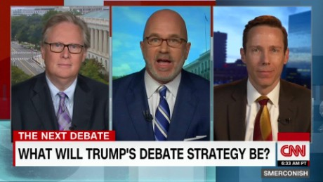 What should Trump's debate strategy be?_00000130