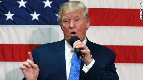 In this Oct. 6, 2016, photo, Republican presidential candidate Donald Trump speaks during a town hall in Sandown, N.H. Russia's government lodged a formal complaint last month with the United Nations over a top U.N. official's condemnations of Trump and some European politicians, diplomats told The Associated Press, an intervention that underscores the unusual links between the Republican presidential nominee and the Kremlin. There is no evidence Trump sought Russia's assistance, or was even aware of the criticism by Zeid Ra'ad al-Hussein, the U.N. high commissioner for human rights. (AP Photo/ Evan Vucci)