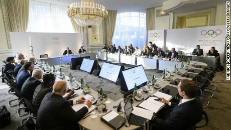 Members of the International Olympic Committee discuss overhauling global drug testing in Lausanne.